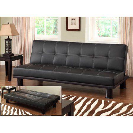 primo phyllo studio convertible futon sofa bed black