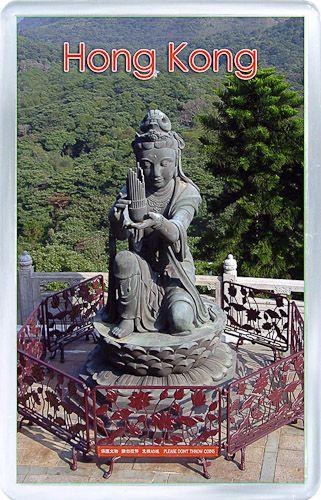 Acrylic Fridge Magnet: Hong Kong. Lantau Peak. Lantau Island. Buddhistic Statues
