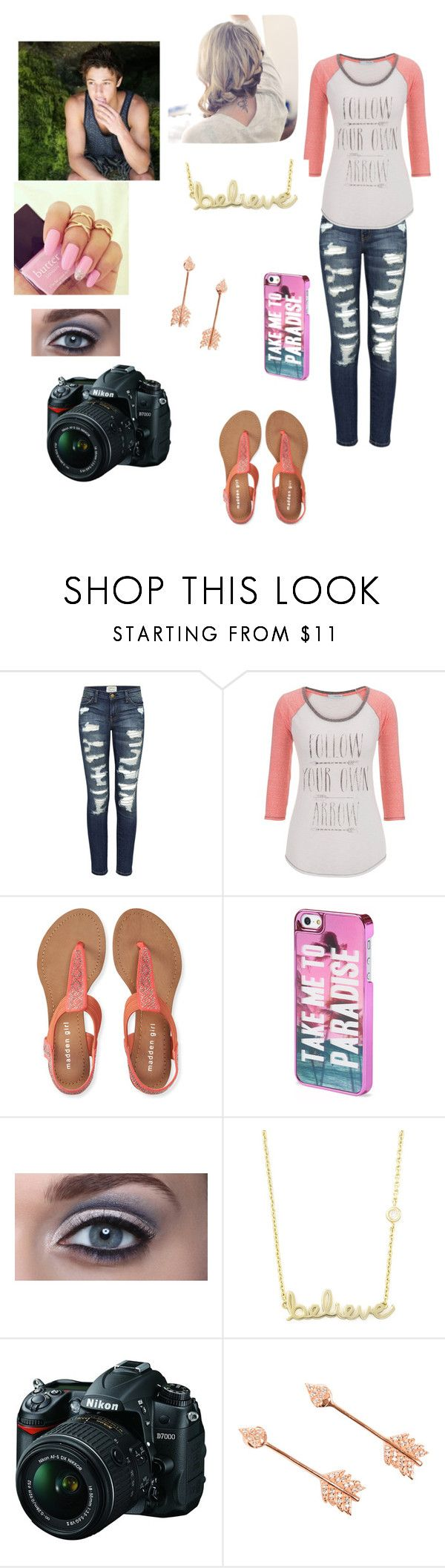 """""""Photoshoot with Cameron Dallas"""" by cherylkinberg97 ❤ liked on Polyvore featuring Current/Elliott, maurices, Aéropostale, Sydney Evan, Nikon and Pamela Love"""