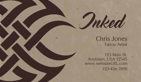 100 best music arts business card templates images by gotprint on general tattoo artist business cards inked colourmoves