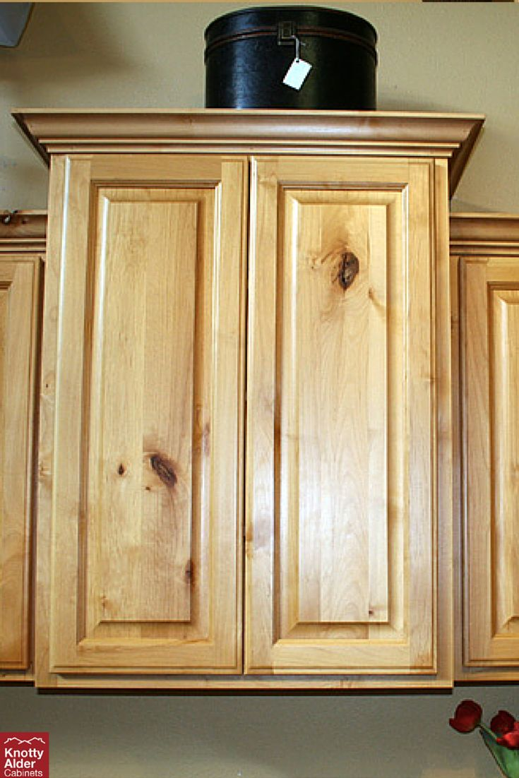 You can't go wrong with the natural knotty alder look.  #naturalstain #knottyalder #cabinets