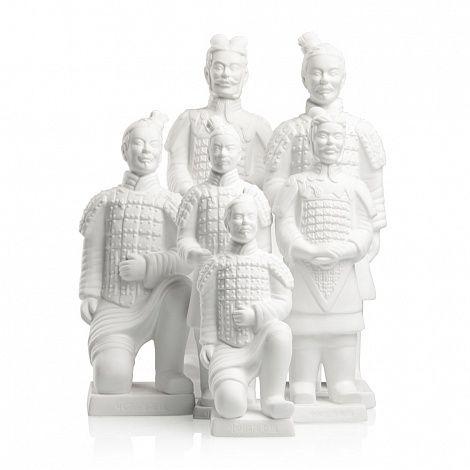 Аксессуары и предметы декора для интерьеров солдаты #китай #террактовая армия #белая армия #декор #фигурки