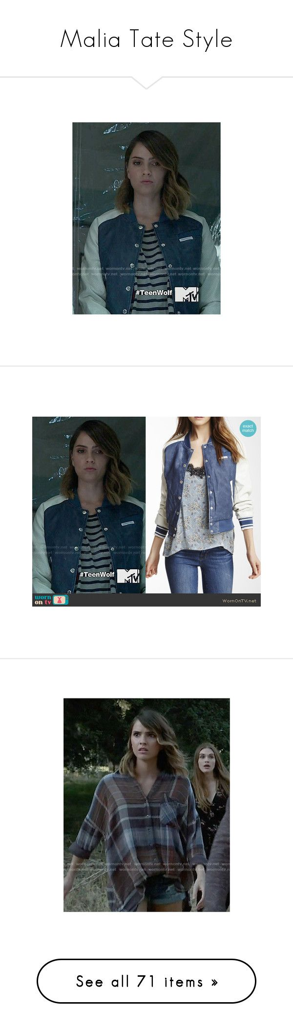 """""""Malia Tate Style"""" by demiwitch-of-mischief ❤ liked on Polyvore featuring TeenWolf, maliatate, outerwear, jackets, tops, cardigans, wolf shirt, red plaid shirt, navy plaid shirt and brown shirts"""