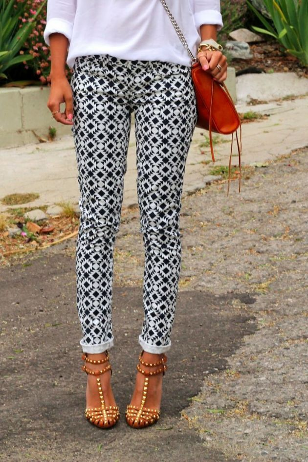 Patterned pants.