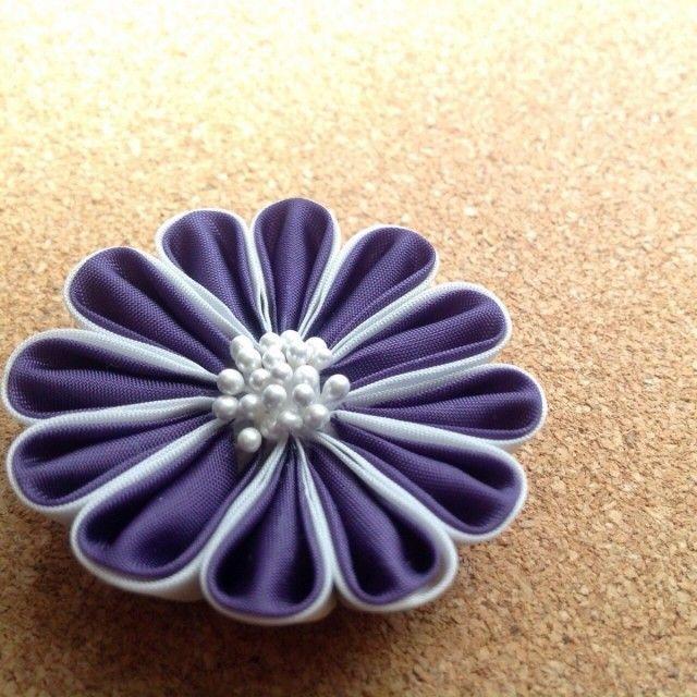 紫の帯留め - 鳥待月