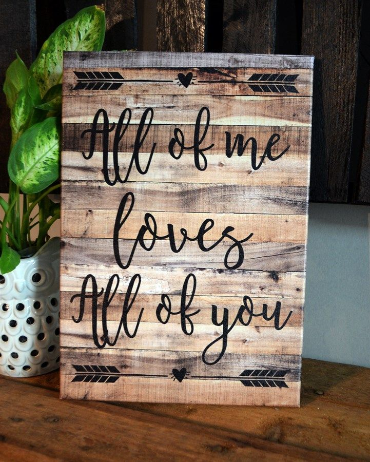"A statement piece over a mantel or on a gallery wall with family photos, this beautiful farm house inspired ""Love"" canvas is the perfect add to any decor. Great for wedding or anniversary gifts."