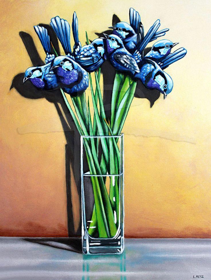 Splendid Blue Wren Irises by LauralRetzStudio on Etsy