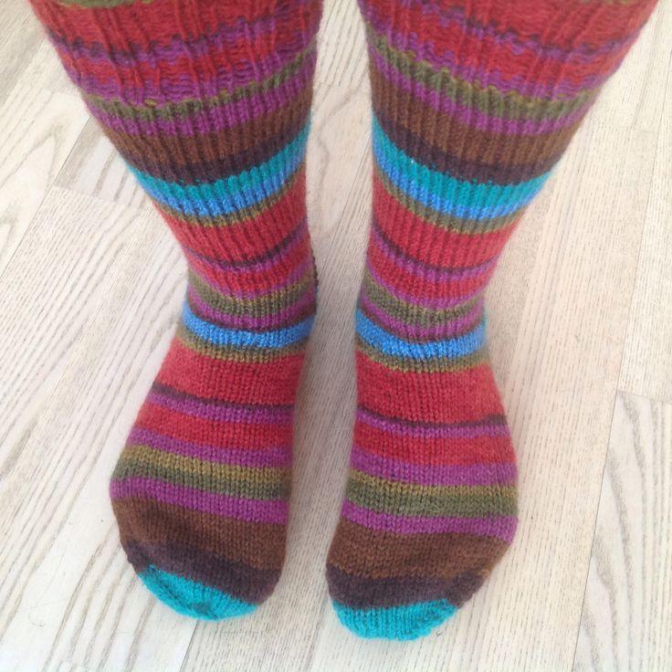 Striped socks.
