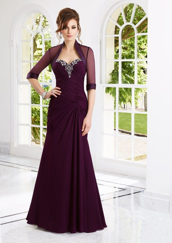 bolero evening dress and mother of the bride dress from VM by Mori Lee Style 70902 Chiffon Dress and Jacket