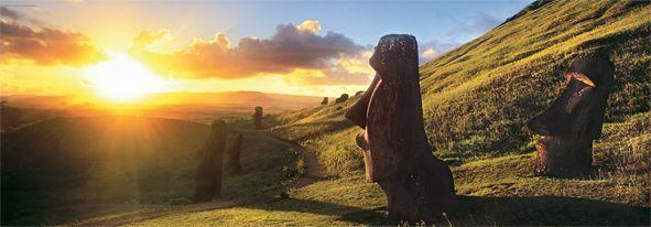 Puzzle 1000 pièces Ile de Pâques, Rapa Nui parc National Chili Réf : 29289 Heye www.puzzlemanie.fr