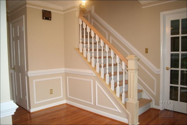 staircase & moulding idea