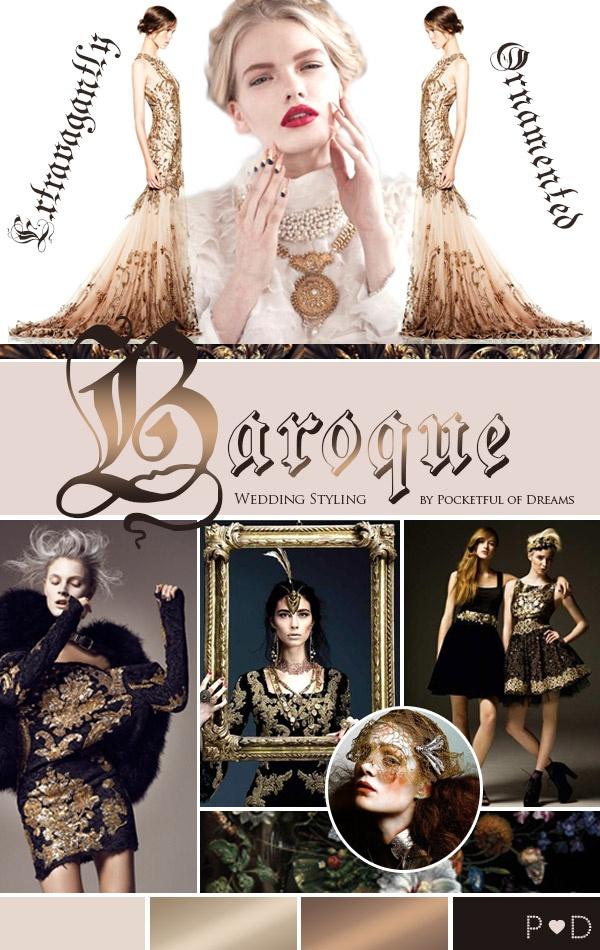 Baroque, Moodboard, Fashion Trend, Wedding Styling, Wedding Design, Wedding Planning, Event Design, Pocketful of Dreams, Inspiration Board, Bridal, Weddings, Colours, Black, Gold, Decadent, Ornate, Fetcham Park,  (1)