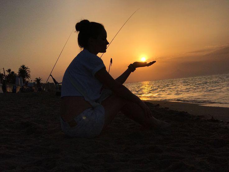 #идеидляфото #закат #пляж #фотонапляже