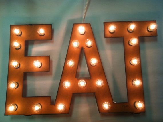 Rusted Recycled Metal Vintage Inspired EAT by TheRusticBarnAZ, $119.00