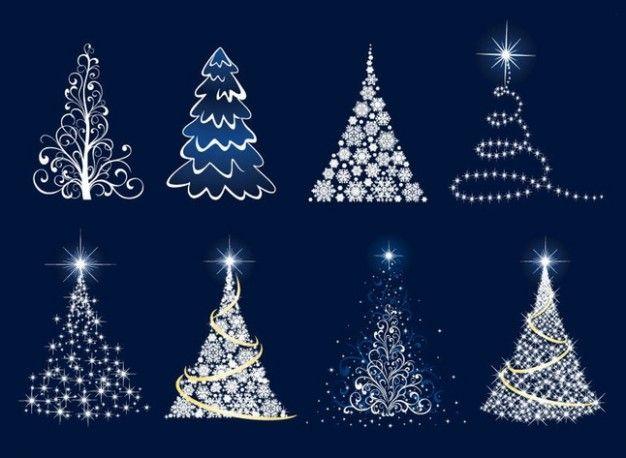 kerstboom in blauw / wit