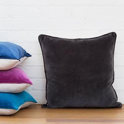 Basic Large Cushion Cover Charcoal