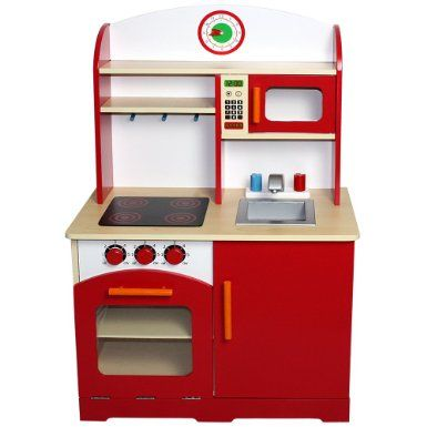 Wooden Child Play Kitchen Kid Toy Kitchenette Fun Pretend House Cooker Oven  Cook In Toys U0026 Games, Pre School U0026 Young Children, Wooden Toys