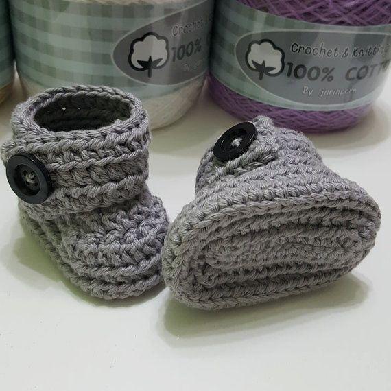 Bottini del bambino in 100% cotone crochet di crochetbyamydesign