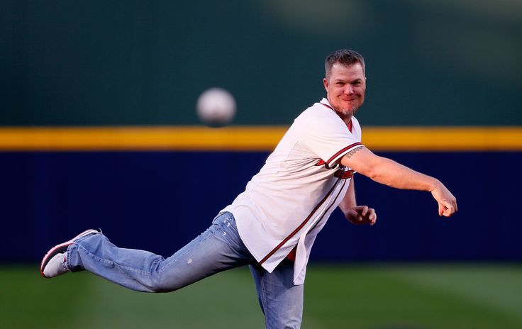 Chipper Jones throws out first pitch!