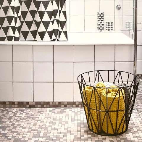 ferm LIVING black wire basket