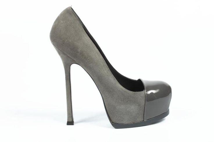 Yves Saint Laurent Ladies Pumps Grey #YvesSaintLaurent #PumpsClassics #Party
