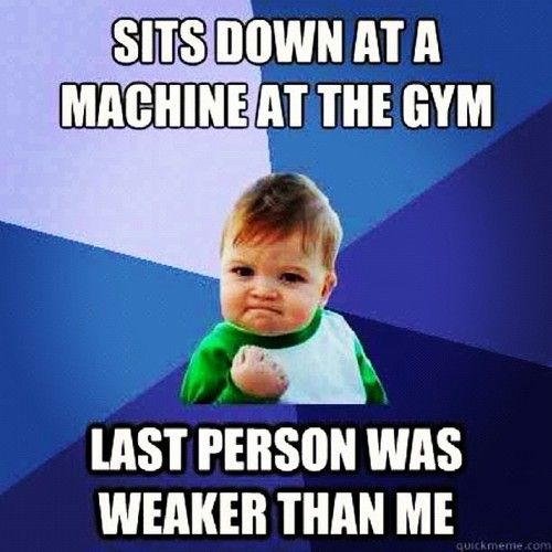 Sits Down at a Machine At The Gym,  Last Person Was Weaker Than Me!