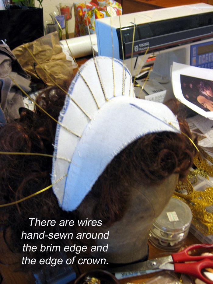 Kinda random, but could use this idea for the godmother's headdress..... Elizabethan Headress