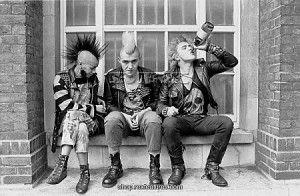 punks lining Kings Rd...mid-eighties