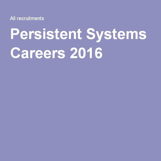Persistent Systems Careers 2016