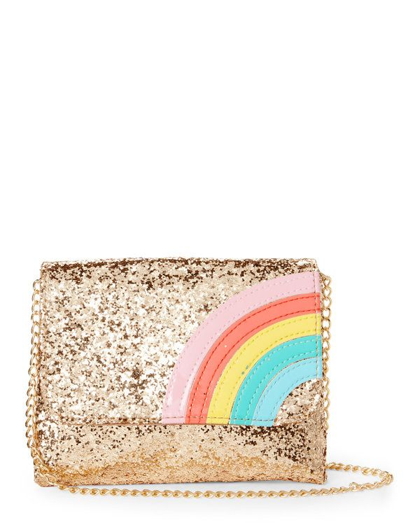 Capelli New York S 7 16 Gold Glitter Rainbow Purse