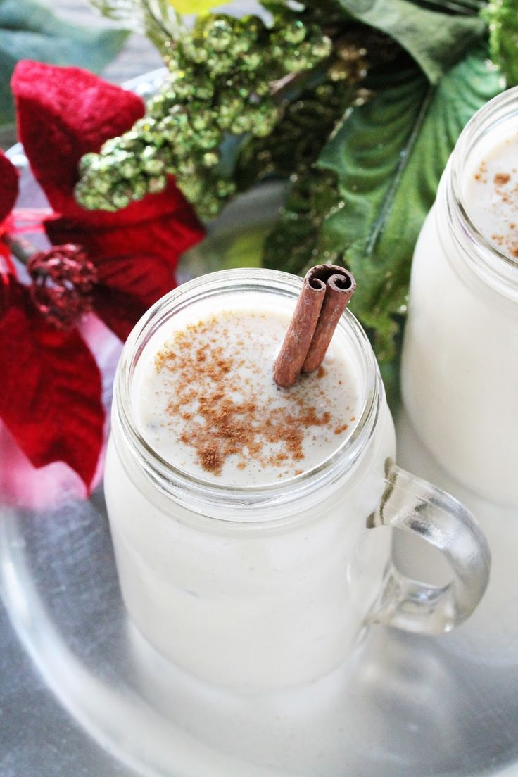 Old Fashioned Non-Alcoholic Eggnog from The Stay At Home Chef. Cooked and non-alcoholic so it is family friendly!