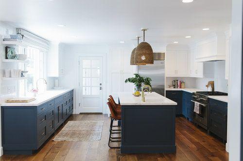 Gorgeous Navy / White Kitchen by StudioMcGee