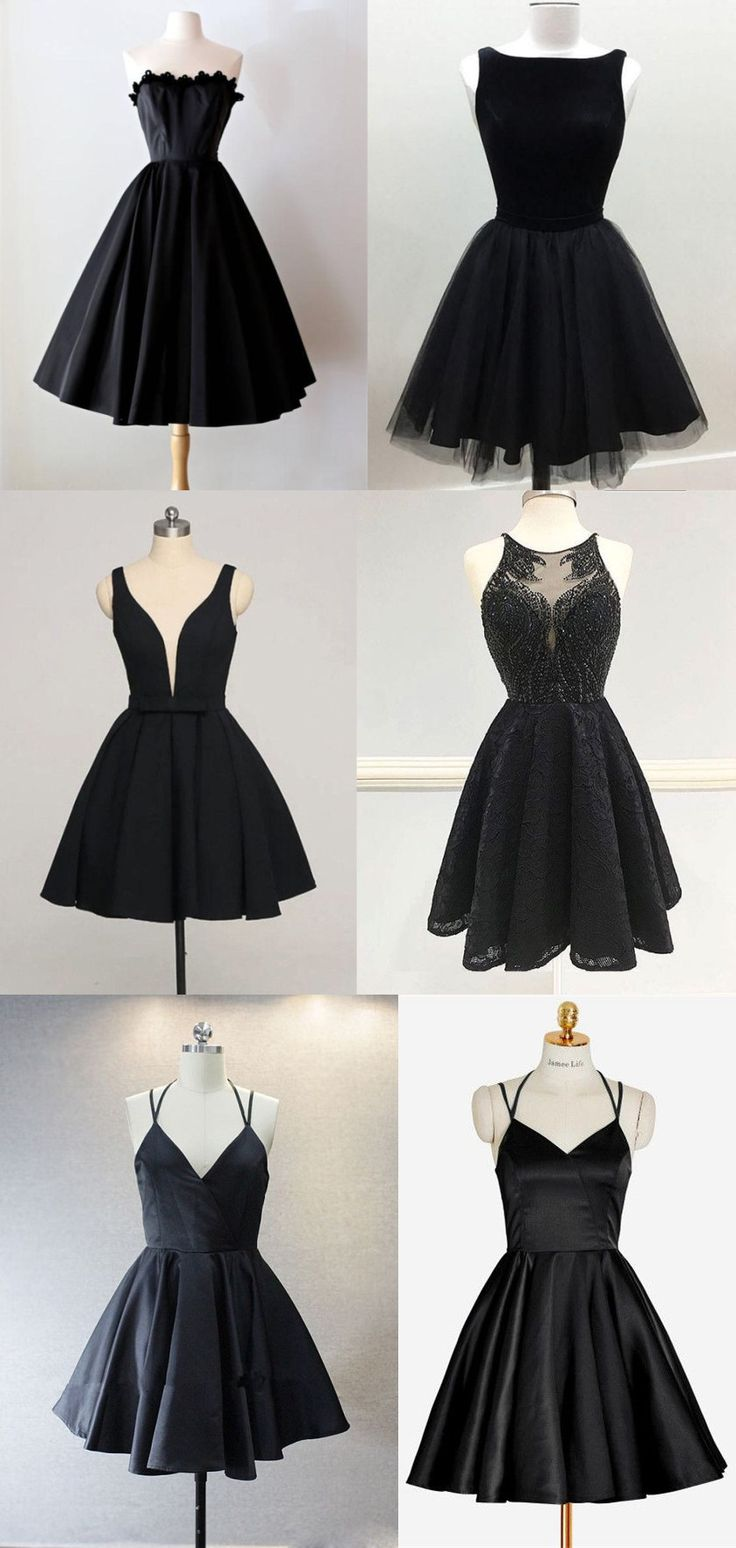 A-line Sweetheart Neck Appliqued Prom Dresses Little Black Dresses ASD2594 11