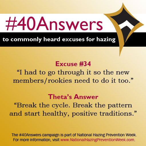 #40Answers Campaign, Day 34: Break the cycle. Break the pattern. Start healthy and positive traditions. #NHPW