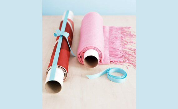 The Secret to Wrinkle Free Tablecloths: Mail Tube, Paper Towels Rolls, Wrinkle Free, Scarves, Tables Runners, Scarfs, Great Ideas, Diy, Table Runners