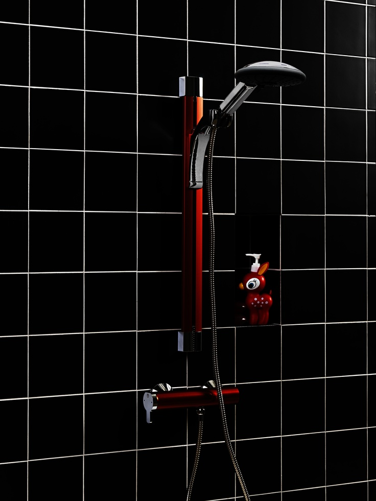 Duschset från Coloric i färgen Passionate Red. | GUSTAVSBERG