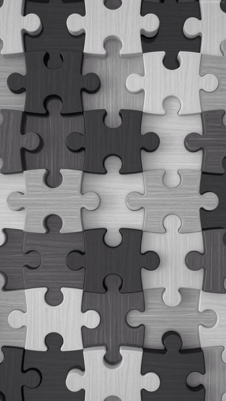 Grey Puzzle Pieces Wallpaper