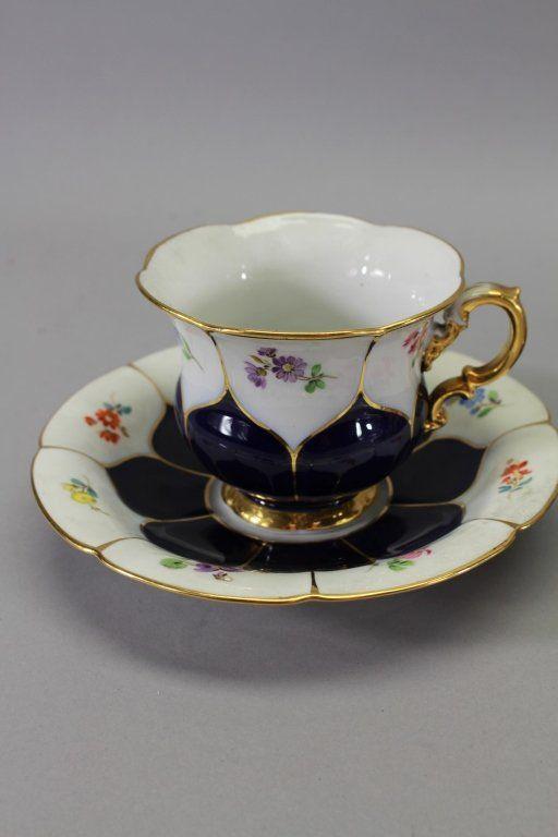 (3) Meissen Porcelain Cups & Saucers : Lot 235