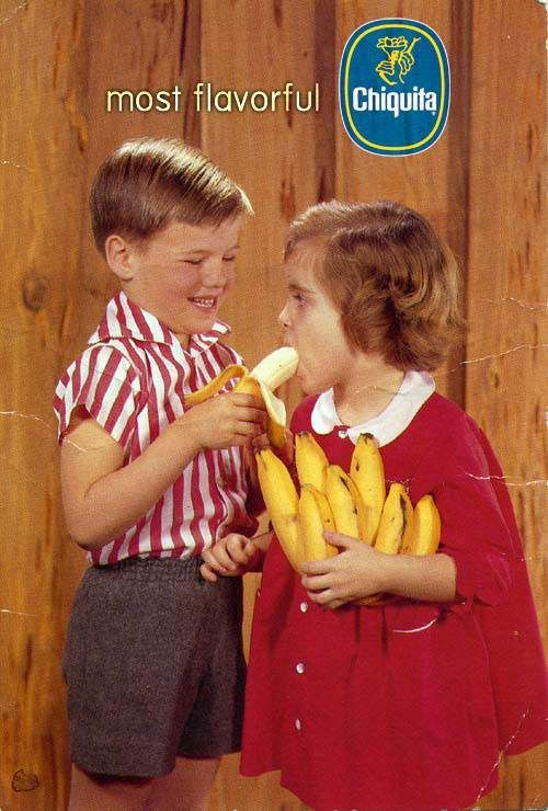 ....Laugh, Funny Shit, Funnyshit, Eating, Funny Stuff, Humor, Vintage Ads, Prints Ads, Chiquita Bananas