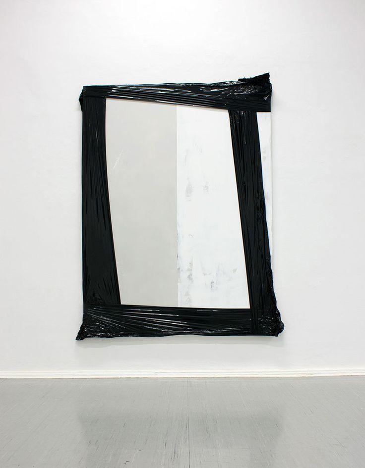<b>Title:</b>140802<br /><b>Year:</b>2014<br /><b>Medium:</b>Lacquer, acrylic, spray paint, fluorescent marker, and foil on canvas<br /><b>Size:</b>240 x 175 cm, Photo: Elmar Vestner