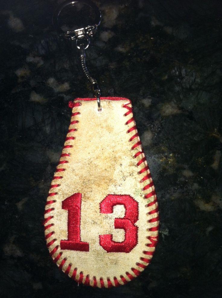 Personalized Vinatge Baseball KEYCHAIN by BaseballAlley on Etsy, $25.00