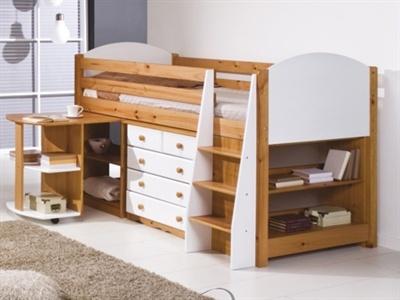 Verona Design Ltd Midsleeper Bedroom Set 1 - White 3' Single White Cabin Bed