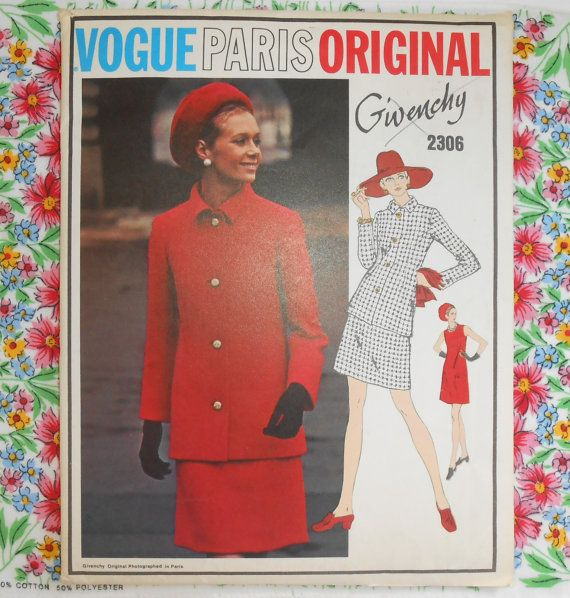 Vogue Paris Original Sewing Pattern 2306  GIVENCHY  by WeBGlass