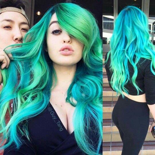 Guy Tang Aqua Hair! Beautiful!