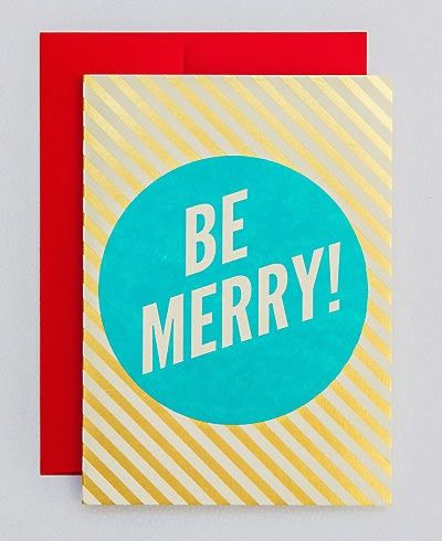 Be Merry! Christmas card