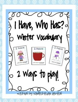 I Have, Who Has? Winter Vocabulary Freebie - Pinned by @PediaStaff – Please Visit ht.ly/63sNtfor all our pediatric therapy pins