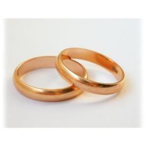 Βέρες Κ14 από κόκκινο χρυσό. #marizaart #greekart #art #greece #wedding