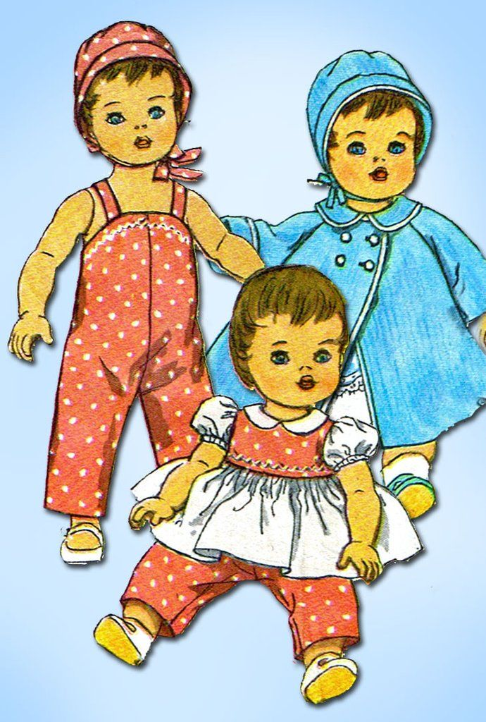1960s Vintage Simplicity Sewing Pattern 3669 20 In Tiny Tears Baby Doll Clothes