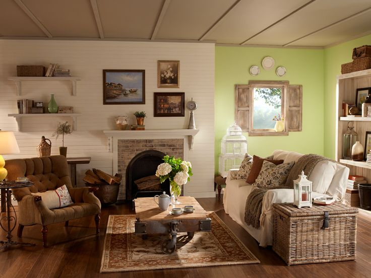 English Cottage Living Room...several things I like here
