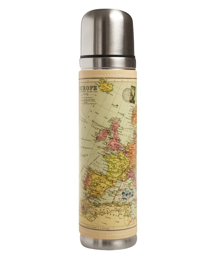 Multicolour Map Drinks Flask | Travel Accessories | Liberty.co.uk